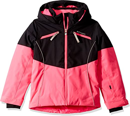 Kids Full Zip Outdoor Hooded Winter Coat Spyder Girl/'s Lola Jacket