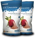 2 x Finest Belgian Milk Chocolate Bag 900g - Suitable for a Chocolate Fountain or Desserts and Cakes - Chocolates