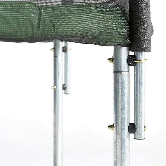 CZON Sports-trampoline exterieur enfant Filet De Securite|Trampoline De Jardin 250 cm-430 cm Vert