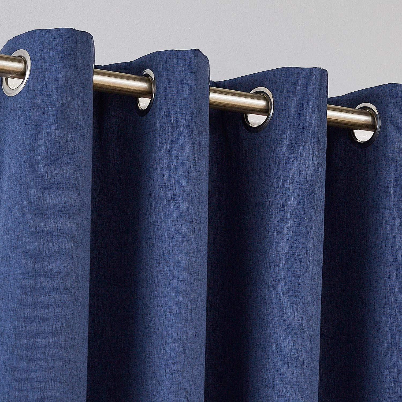 lin 52x 90 Tissu Deconovo Rideaux occultants en imitation lin Isolation thermique /Économie d/énergie