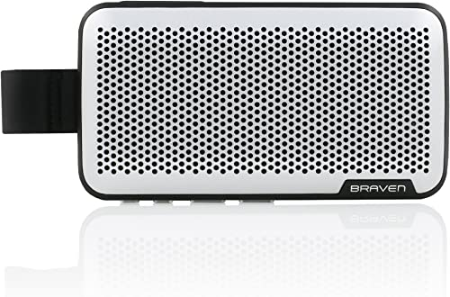 Braven Brava Premium Conference Call Speaker 2100 mAh Car Speakerphone Accessory – Silver Black