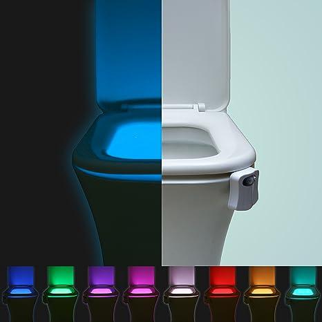 rulaii inodoro luz de noche Sensor automático activado por movimiento LED noche luz para WC y