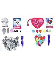 Orb Factory Craft Kit Bundle Includes Plush Craft Heart Clutch Purse 3D Mini Schnauzer Dog