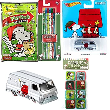 The Peanuts Car Hot Wheels Dodge Van 66 A100 Pop Culture Snoopy Play Pack