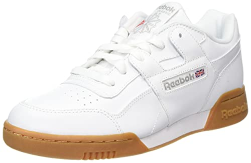 Workout Plus, Zapatillas para Hombre, Blanco (White/Carbon/Classic Red/Reebok Royal-Gum 0), 40.5 EU Reebok
