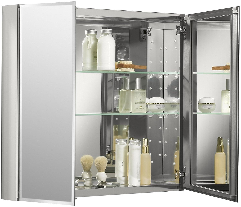KOHLER Aluminum Bathroom Medicine Cabinet Recessed