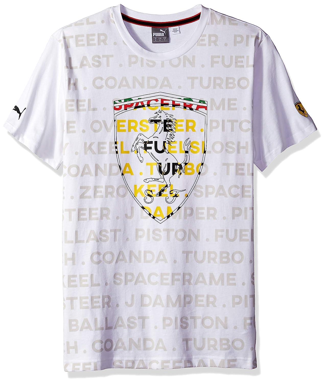 PUMA Mens Scuderia Ferrari Big Shield T-Shirt 762139-01-XS-A