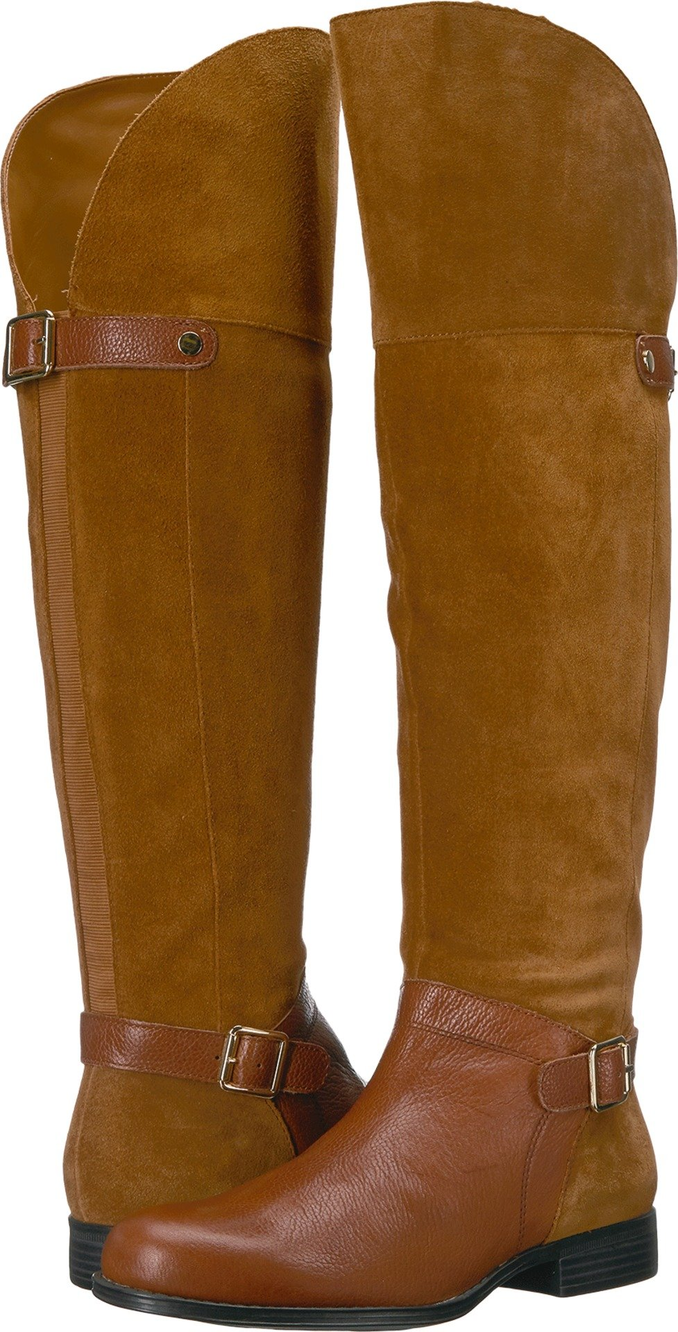 Naturalizer Women's January Riding Boot, Camel, 7 M US