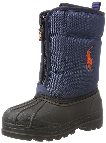 37ffcb6ff1ce Ralph Lauren Unisex Kids  Quilo Zip Snow Boots, Blue (Navy Nylon w ...