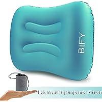 Aufblasbares Camping Kissen BIFY Nackenkissen Reisekissen Sitzkissen vielseitig einsetzbar wie für Camping, Garten, Strand, Urlaubsreise,Outdoor, Büro, Reise