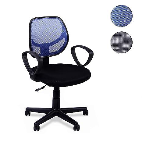 Adec - Student, Silla Escritorio giratoria, Silla Juvenil de Oficina,Color Azul,