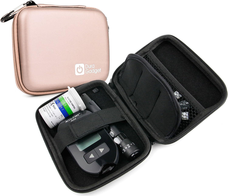 Estuche rígido y compacto para diabéticos, para transporte de glucómetro, tiras y lancetas (vacío): Amazon.es: Electrónica
