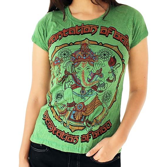 Yoga ShirtAmazon Tees Femme Ganesh T Omtimistic Graphic Casual zULVGqSMp