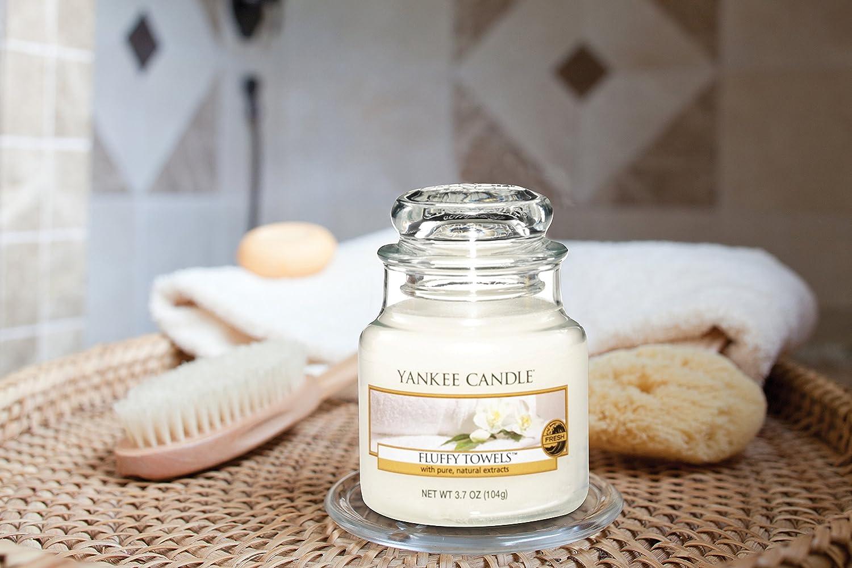 Yankee Candle 1205384E - Toallas de felpa vela candelita perfumada, color blanco
