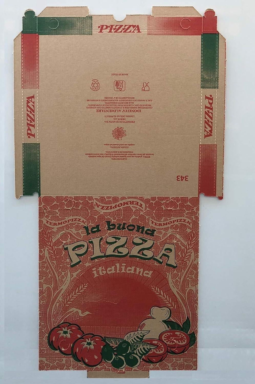 Caja pizza con cierre – 32.5 x 32.5 x 3 cm – Ecológico – 100 piezas – Eco Avana: Amazon.es: Hogar