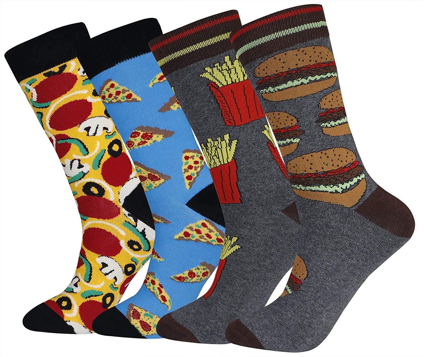 Men's Cool And Colorful Patterned Dress Socks for Men Novelty Animal Crew Socks