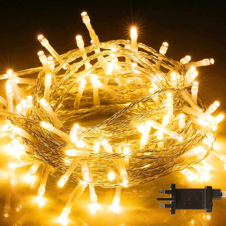 UK Plug Fairy LED String Light Outdoor Waterproof Lamp Christmas Wedding Party