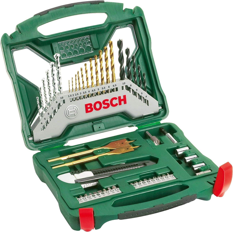 Bosch Home and Garden 2 607 019 327 Bosch X-Line Titanio - Juego de Brocas para Taladrar y Atornillar, Set 50 Piezas