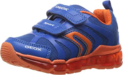 Hook And Loop Fastening Infant Boys Geox Android Trainers In Navy Royal