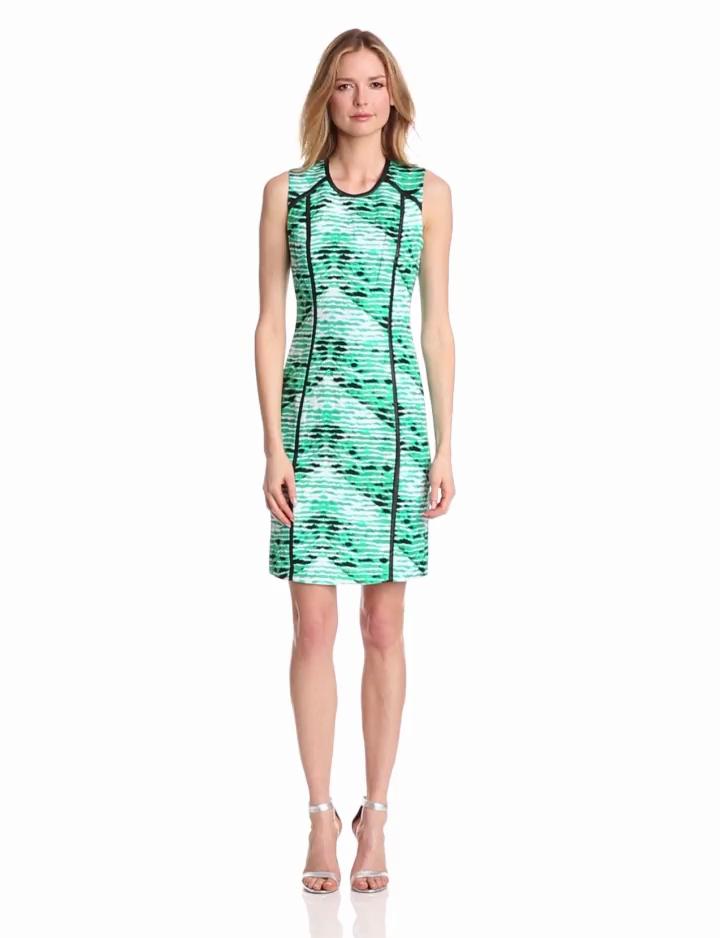 Calvin Klein Womens Seamed Shift Dress