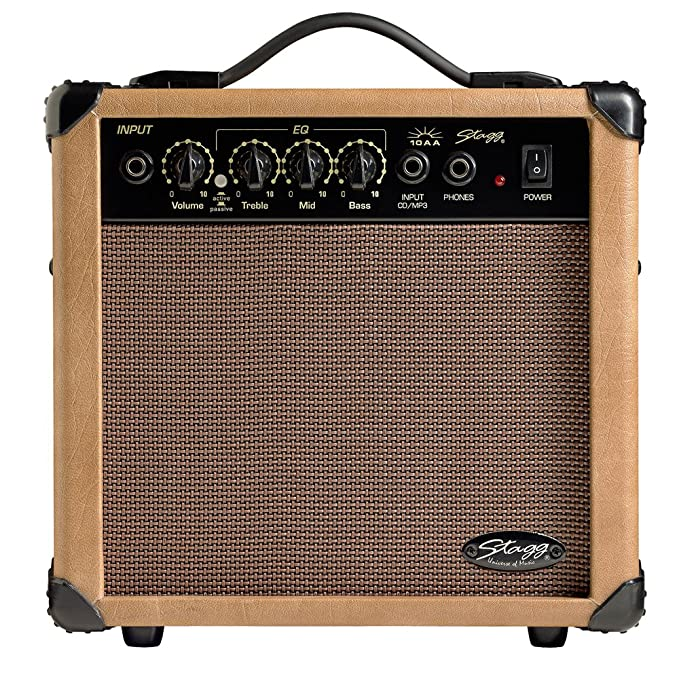 stagg 10 aa uk 10w acoustic guitar amplifier Bass Guitar Case