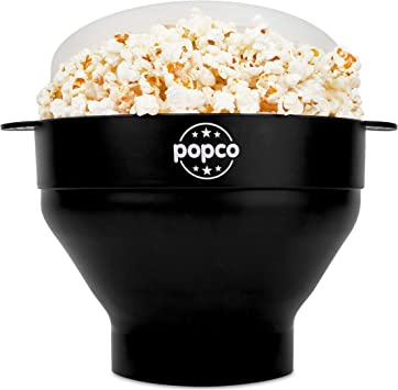 The Original Popco Silicone Microwave Popcorn Popper with Handles, Silicone Popcorn Maker, Collapsible Bowl Bpa Free and Dishwasher Safe - 10 Colors ...