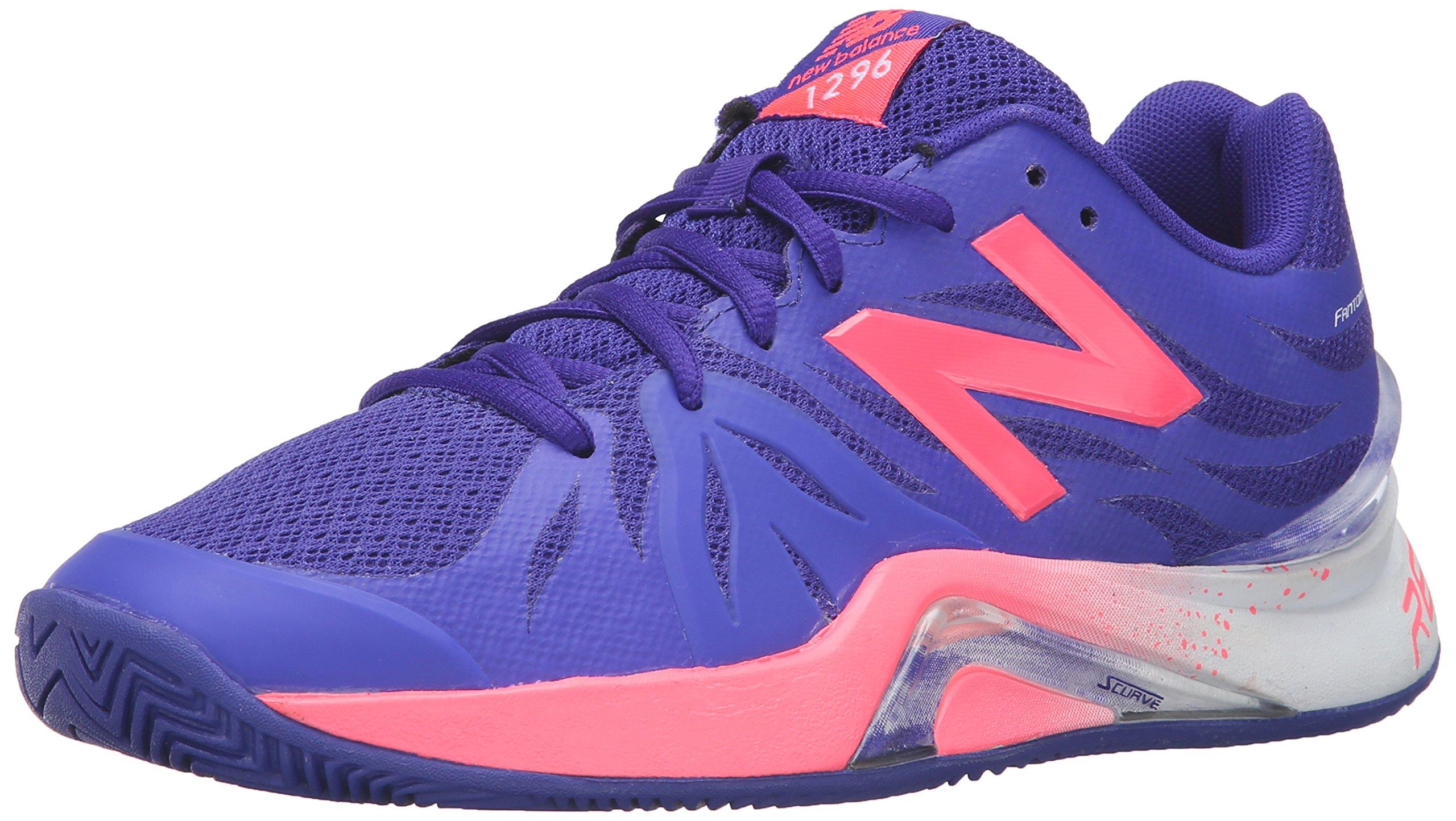New Balance Women's 1296v2 Tennis Shoe, Blue/Guava, 9 B US