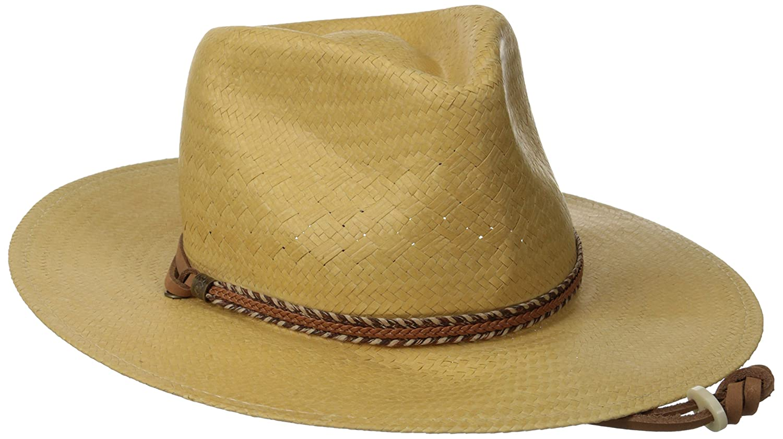 165e8f36d7b2b Amazon.com  Pantropic Men Litestraw Creekside Gaucho Fedora  Clothing