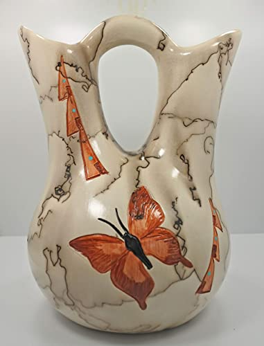 All Tribe Silver Horse Hair Pottery Butterfly Large Wedding Gift Vase