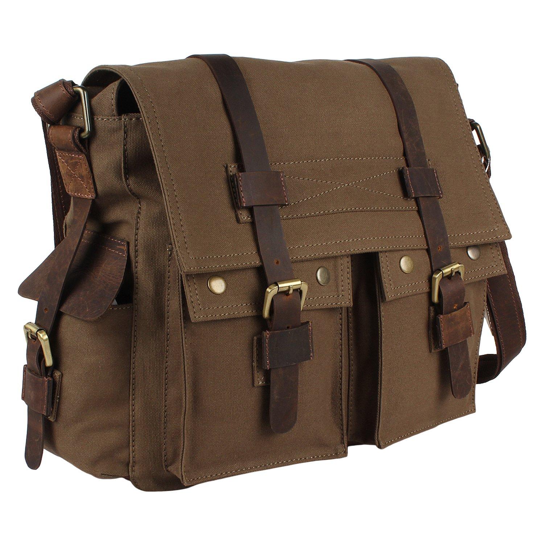 Amazon.com: Rustic Town Canvas Messenger Bag Laptop Bag School ...