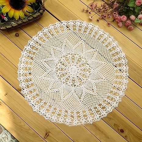 El ganchillo hecho a mano artesanal kamay encaje de algodón servilletas BoLH, 100% algodón
