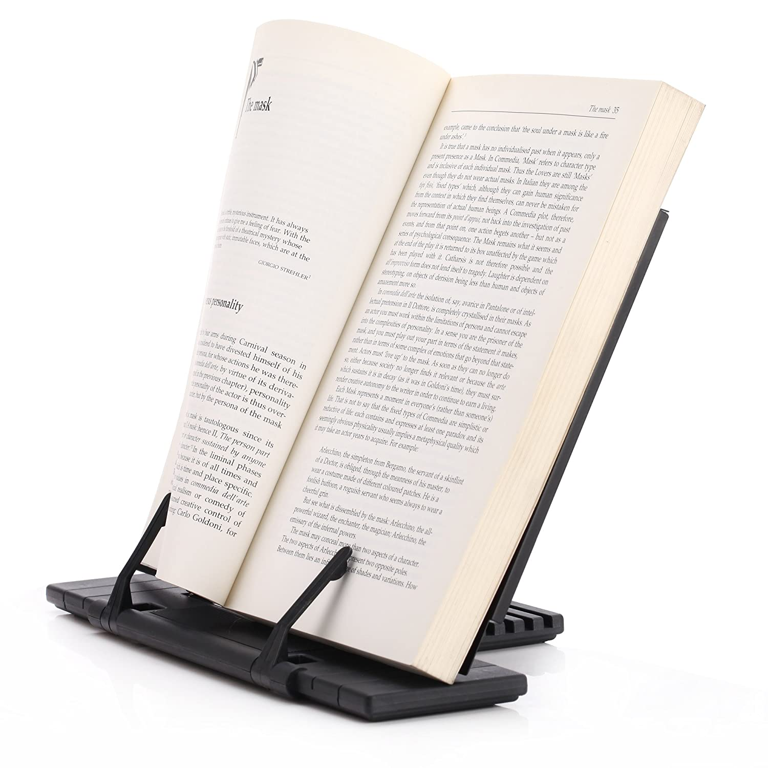 readaeer reading rest cook book document holder stand