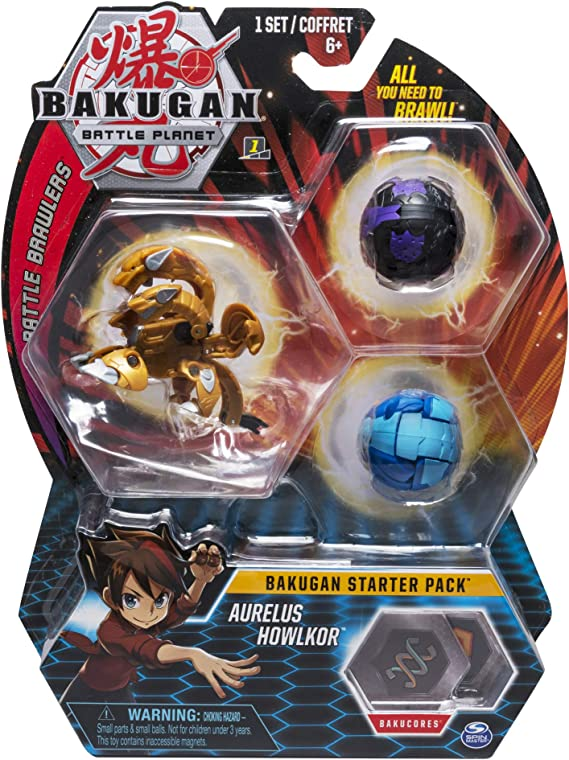 Bakugan Starter Pack Aurelus Howlkor (BIZAK 61924426) , color ...