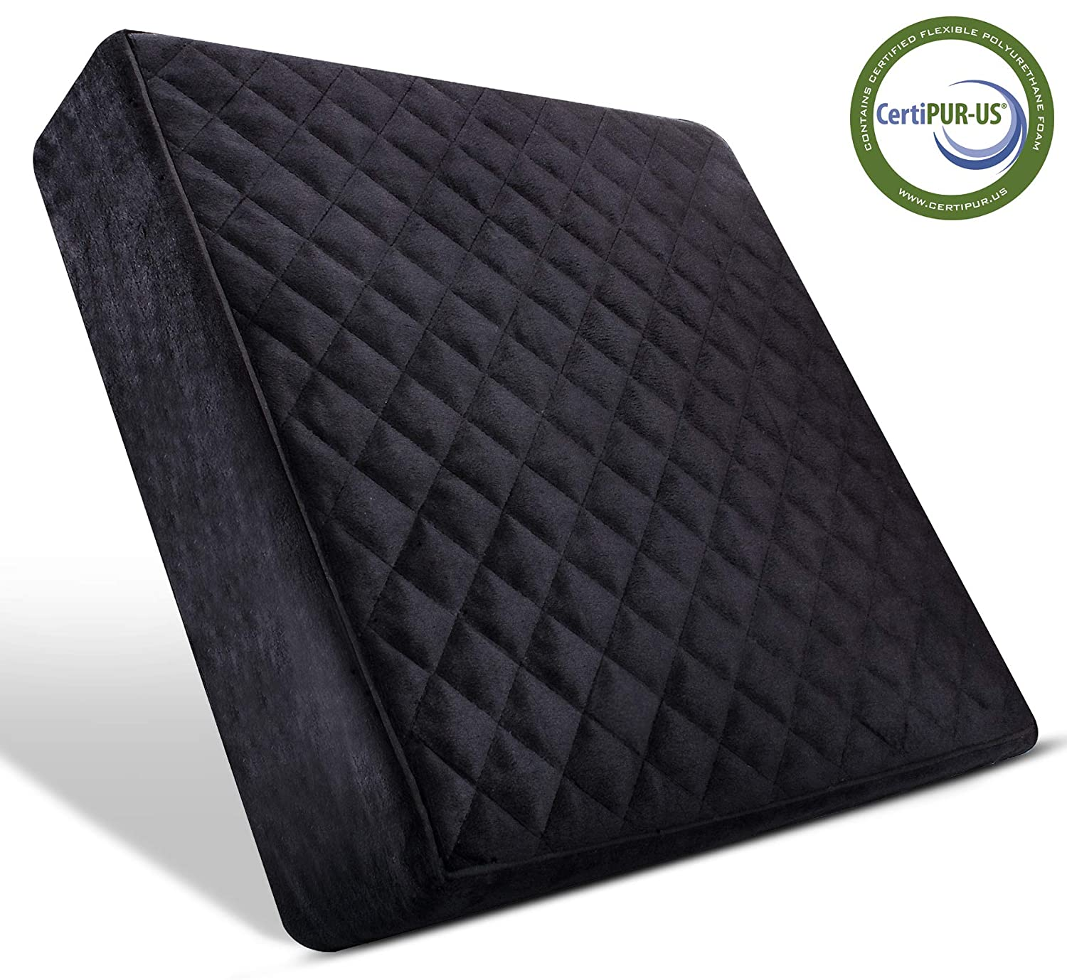 "Comfortanza Chair Seat Cushion - 16""X16""X3"" Square Thick Foam Pads for Wooden Kitchen Dining Chairs, Office & Car Seat - Booster Cushion - Comfort & Back Pain Relief - Black"