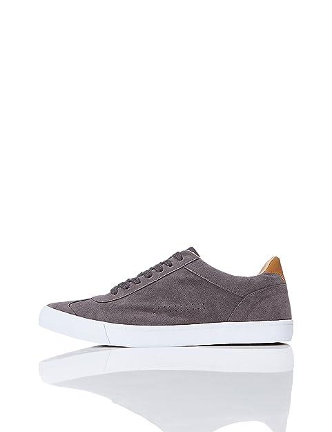 FIND Sneaker Basse in Pelle Scamosciata Uomo  Amazon.it  Scarpe e borse 3b6b714595a