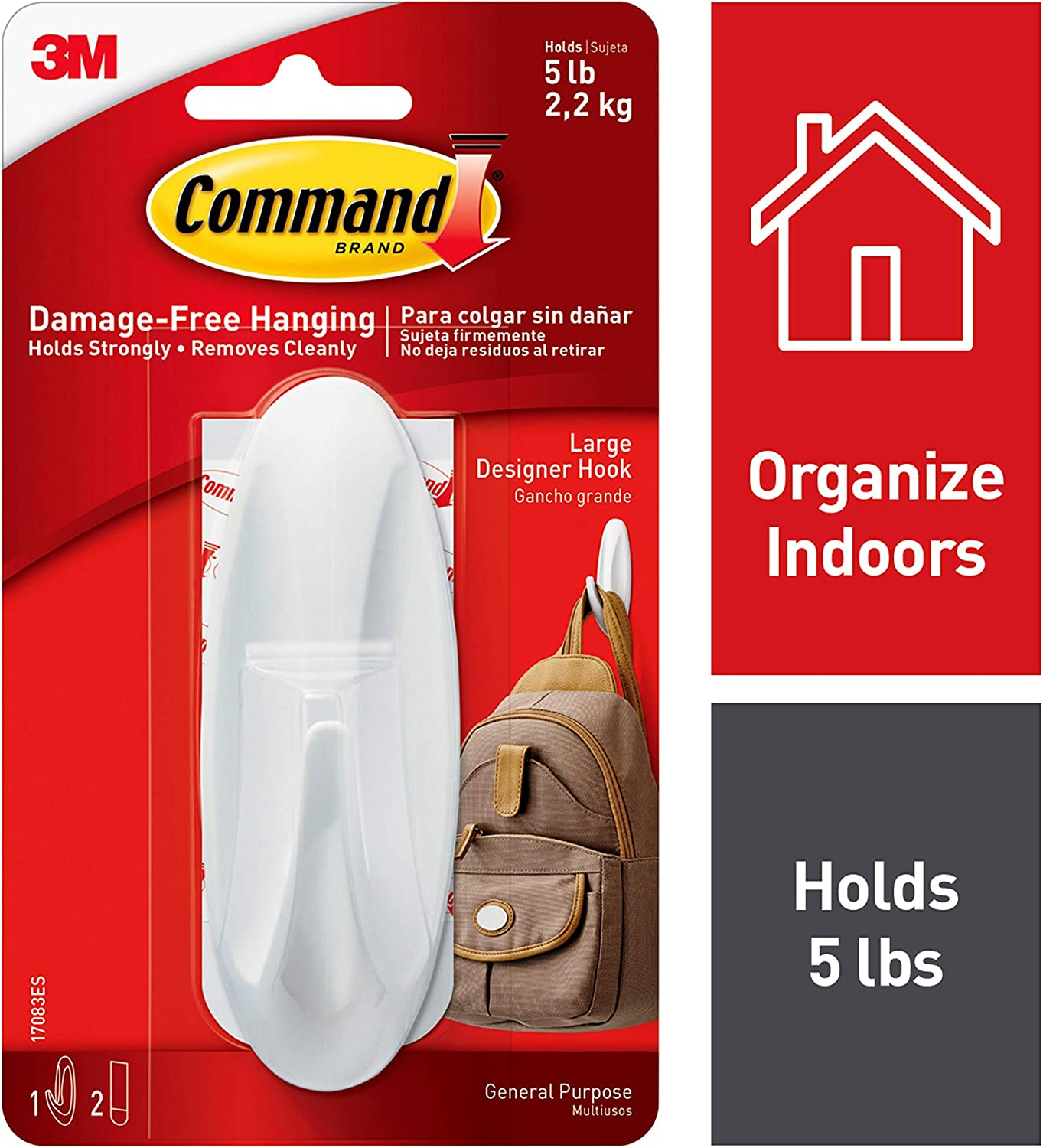 3M Command General Purpose Utility Strips Hook Damage-free Replacement Strongly