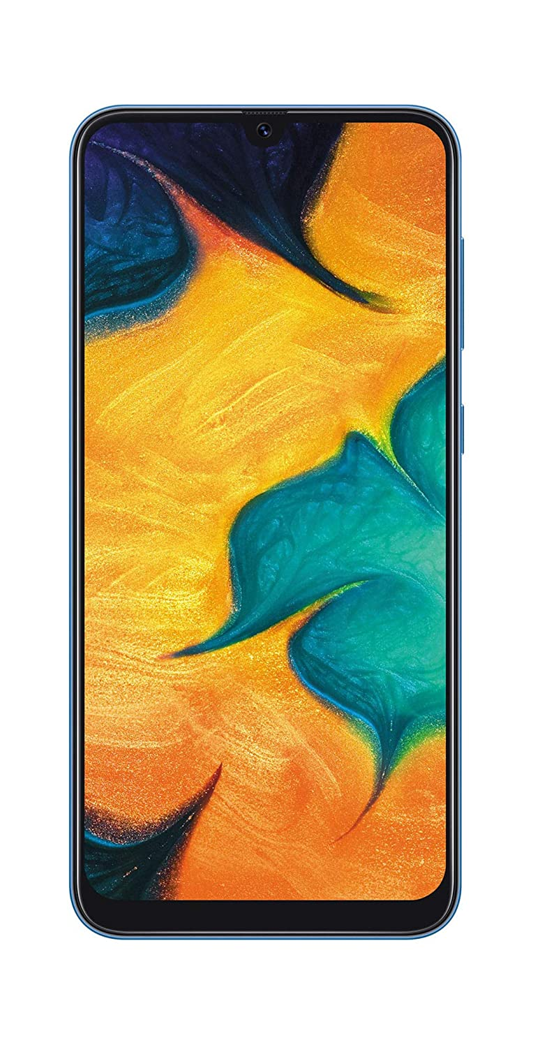 Samsung Galaxy A30 (Blue, 4GB RAM, 64GB Storage)