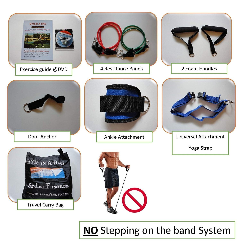 93ab225bac Amazon.com   Sky Limit Fitness LLC Gym in a Bag  1GIB - Great Way to  Improve Strength
