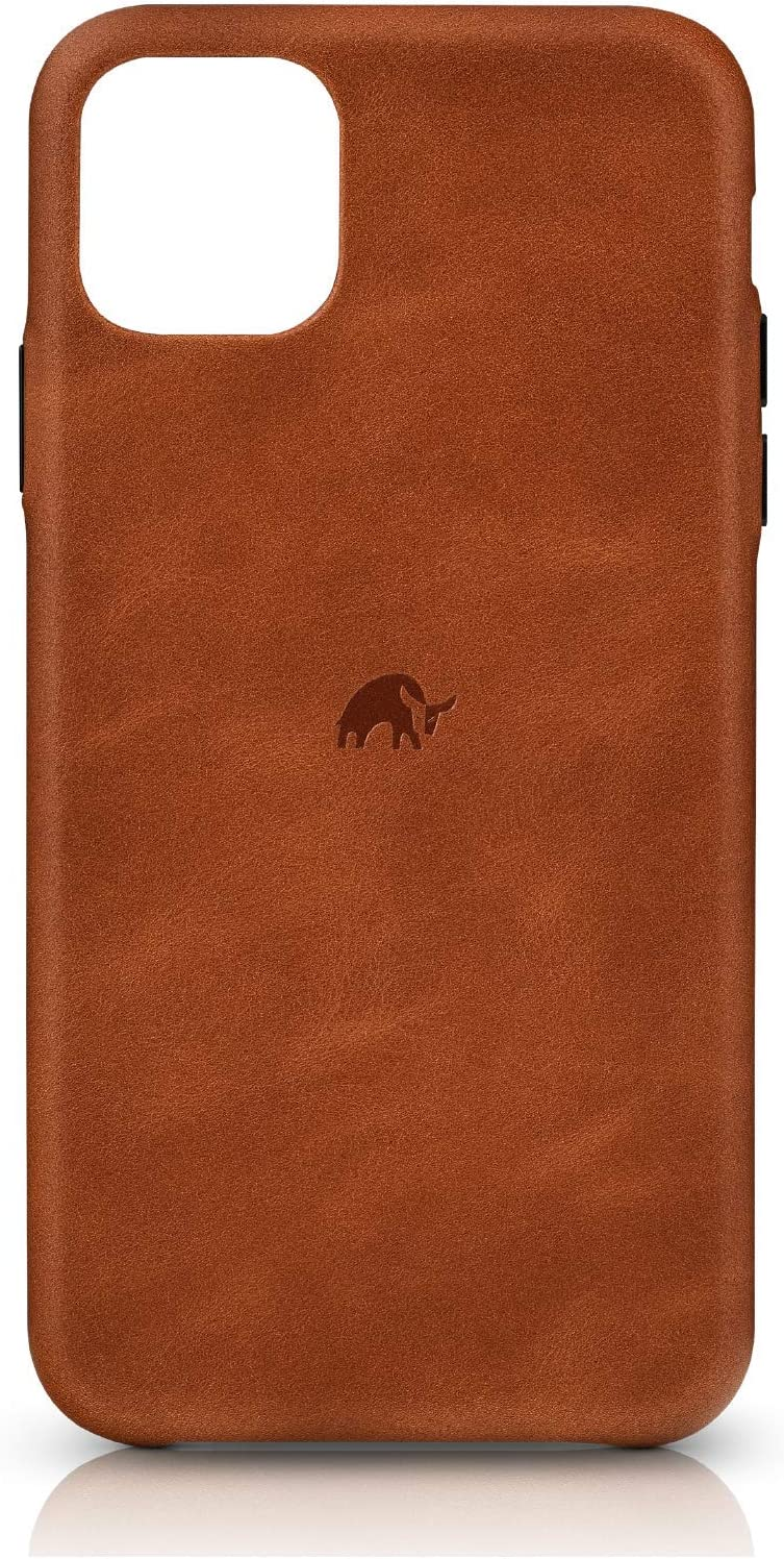 Bullstrap Premium Leather Phone Case Compatible with Apple iPhone 11, Sienna Brown