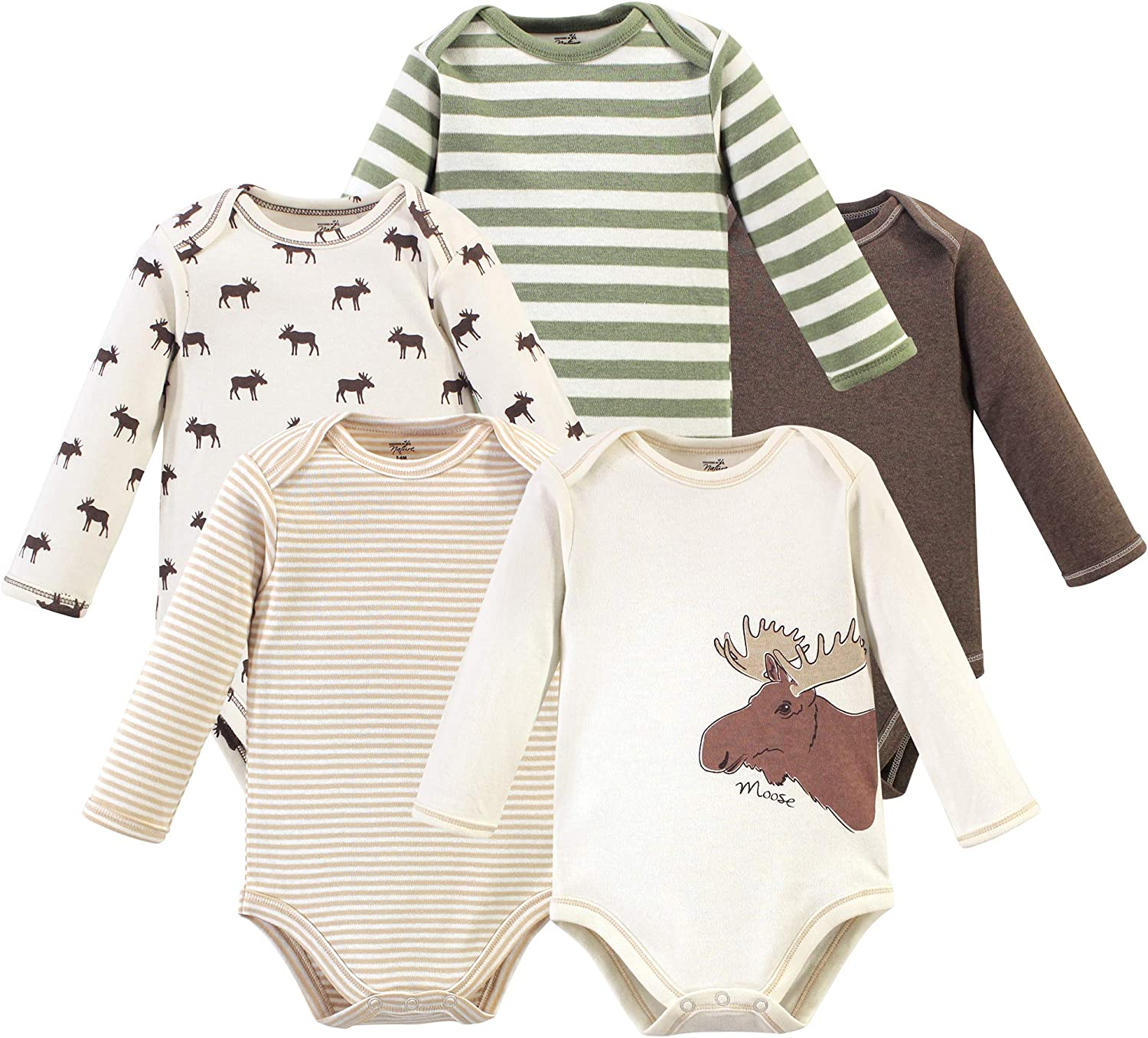 Touched by Nature Baby Organic Cotton Long-Sleeve Bodysuits