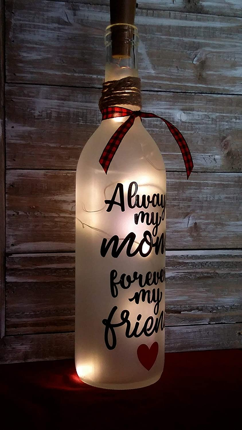 Mothers Day Wine Bottle Gift Decoration Glass Friend