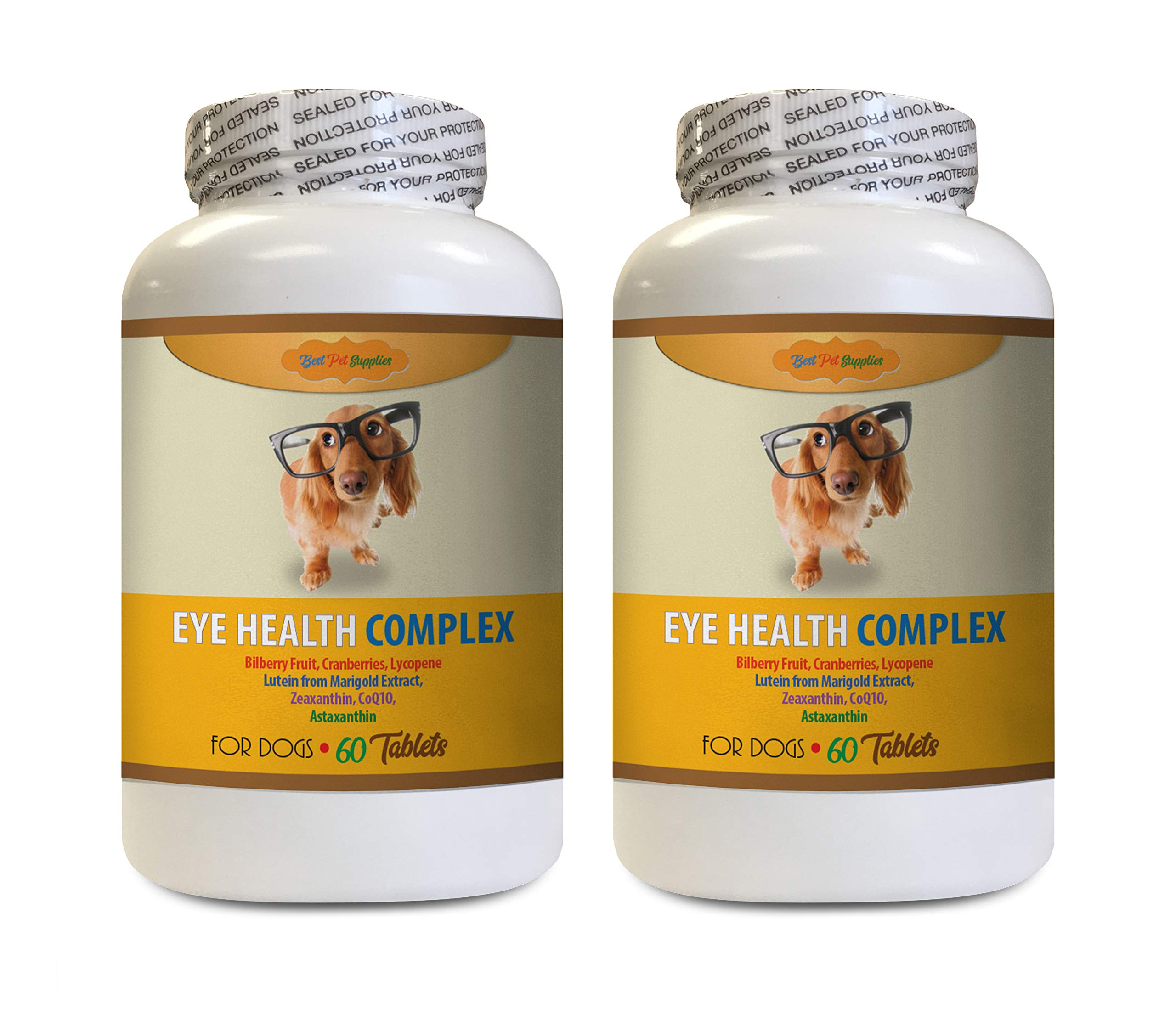 Dog Vision - Dog Eye Health Complex - Immune System Booster - Premium Powerful Ingredients - Best VISON Care - Bilberry for Dogs - 120 Tablets (2 Bottles) by BEST PET SUPPLIES LLC