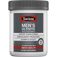 Swisse Premium Ultivite Daily Multivitamin for Men | Energy & Stress Support, Rich...