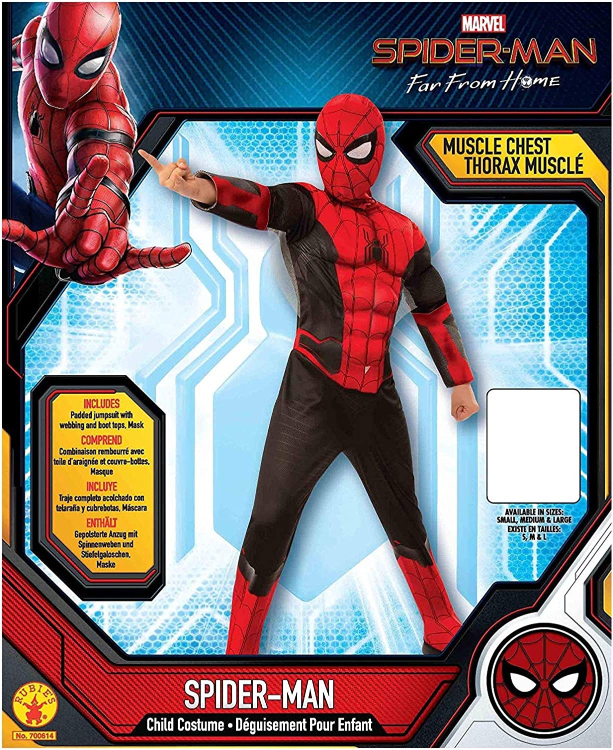 Rubie S Official Marvel Spider Man Costume Spider Man Far From Home Kids Deluxe Costume Amazon De Toys Games