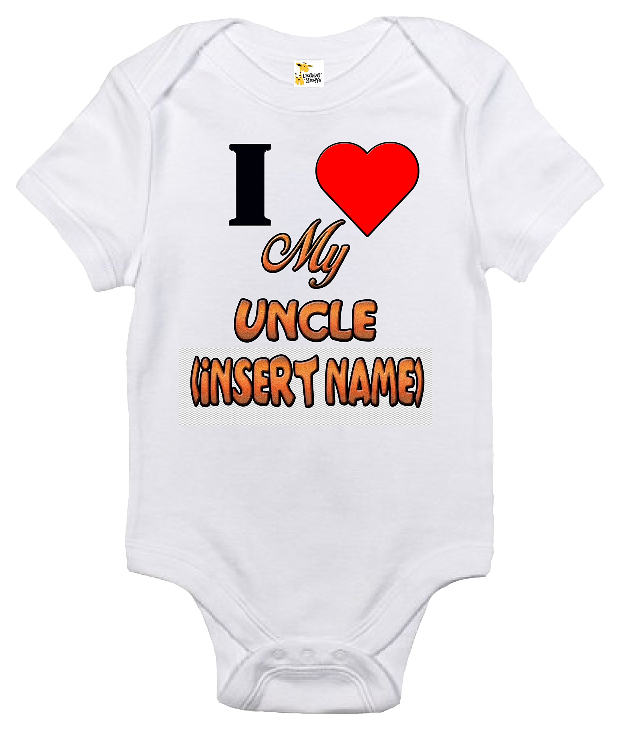 Custom Personalized Baby Bodysuit – I Love My Uncle One-piece Baby Clothes