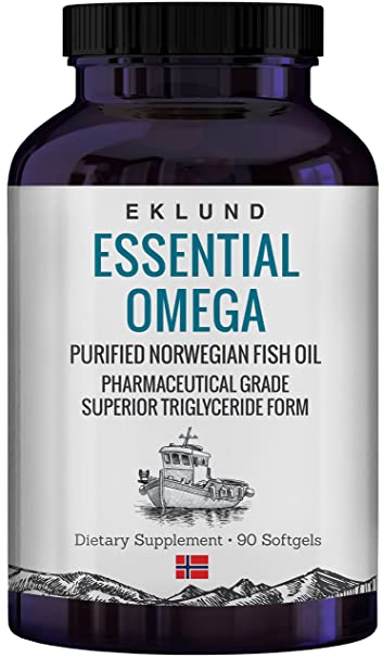 AmazonCom Eklund Essential Omega  Norwegian Fish Oil