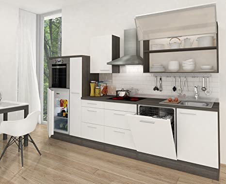 respekta Premium RP310HEW - Cucina lineare, Lunghezza: 310 cm ...
