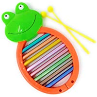 TANMAN TOYS Frog Xylophone Toy with 8 Notes for Kids Babies, Musical Instruments for Toddlers, Big Size, Multi Color