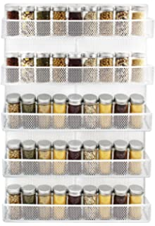 Ordinaire IZLIF 5 Tier Spice Rack Wall Mount Kitchen Organizer Storage Shelf,White