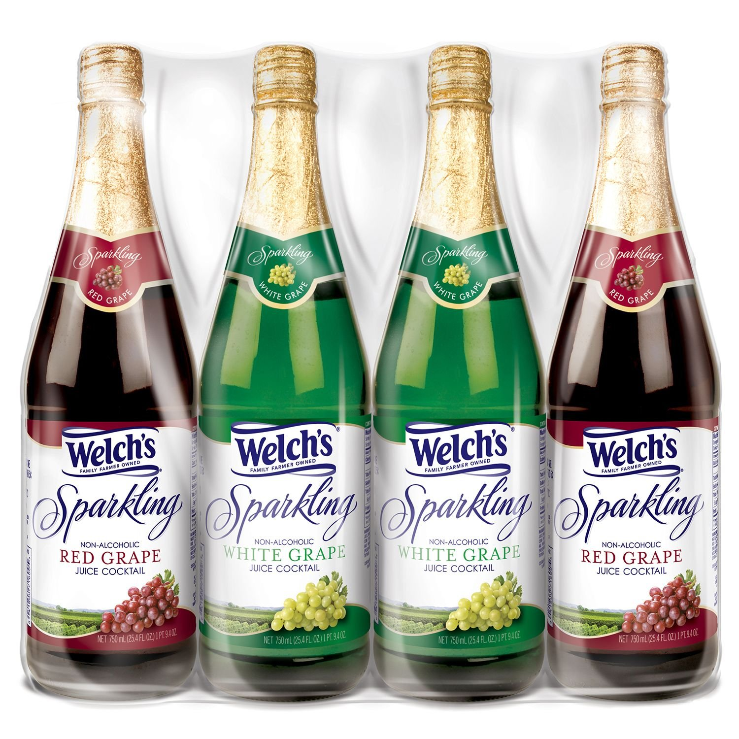 Welch's Sparkling Juice Cocktail Variety Pack (750 ml, 4 ct.) (pack of 6)